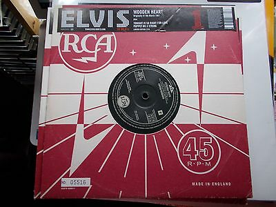 """ELVIS PRESLEY - WOODEN HEART/TONIGHT/PUPPET ON - 2005 RCA LIMITED No.D 10"""" MINT"""