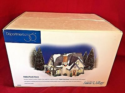 Hidden Ponds House Dept 56 Snow Village 54944 Retired Christmas cottage city