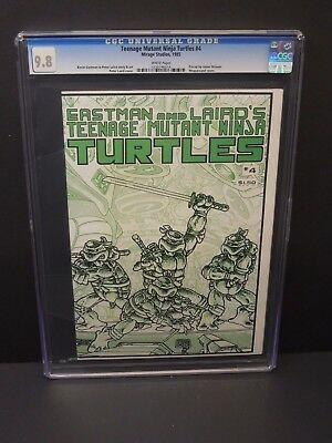 MIRAGE STUDIOS TEENAGE MUTANT NINJA TURTLES #4 CGC 9.8 1st PRINT WHITE PAGES