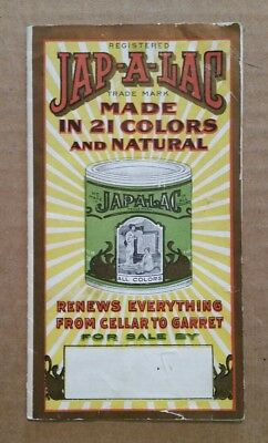 Jap-A-Lac Paint,The Glidden Varnish Co.Paint Sample Brochure,1900's