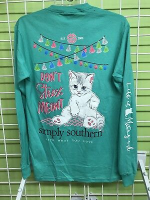 Simply Southern Don't Stress Meowt Long Sleeve