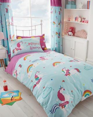 Unicorn Fairytale Duvet Cover Sets Reversible Bedding Sets /Fitted Sheet Sets GC