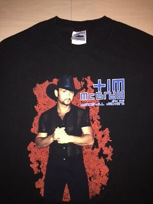 Tim McGraw One Band Show 2003 Concert T-Shirt, Adult Large, Excellent Condition