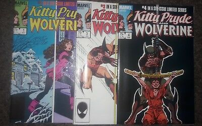 KITTY PRIDE AND WOLVERINE  #1 #3 #4 Marvel 3 Comic LOT 1984