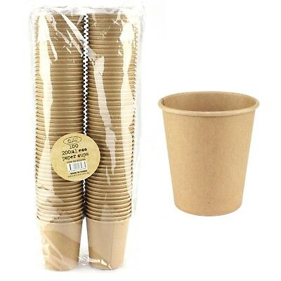 Brown Kraft Paper Vintage Shabby Chic Party Paper Cups Tumblers (Pack Of 100)