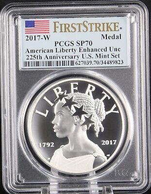 2017 W American Liberty 225th Anniversary Silver Medal  PCGS SP70 First Strike