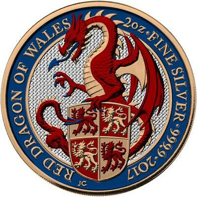 UK 2017 £5 Pounds Queen's Beasts - The Dragon 2oz Proof Silver Coin PRE-SALE