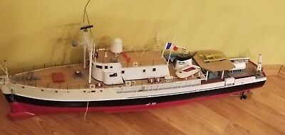 RARE VINTAGE RC CALYPSO 1:45 SCALE SHIP 1970'S Jacques Yves Cousteau's Handmade