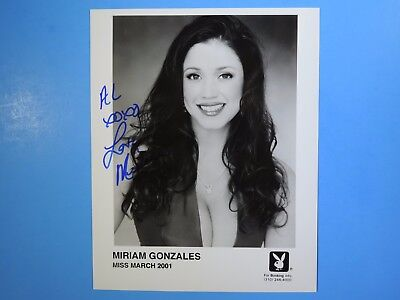 Miriam Gonzales Miss March 2001 Playboy Model Signed Autograph on 8 x 10 Photo