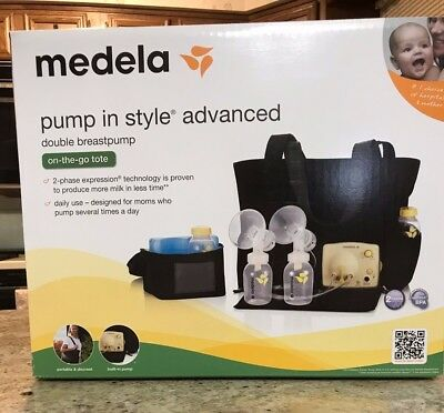 Medela 57063 Pump in Style Advanced Breast Pump with On the Go Tote New!