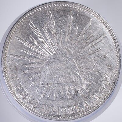 1903 Mexico 1 Peso XF/AU cleaned, .9027 Silver, .7857oz