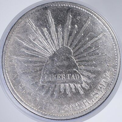 1899 Mexico 1 Peso XF/AU cleaned, .9030 Silver, .7860oz