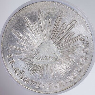 1873 Mexico 8 Reales XF cleaned, .9030 Silver, .7859oz