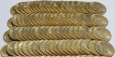 Ten (10) Nice US $10 Gold Indians: 4.8375 ounces of gold *FREE shipping*