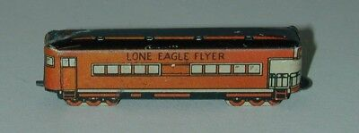 Cracker Jack Premium Lithographed Tin Lone Eagle Flyer Train Car 1930s