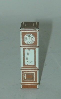 Cracker Jack Prize Lithographed Tin Grandfather Clock USA 1930s