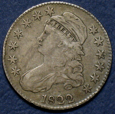 1822 Capped Bust Half Dollar, O-108 R3, Scarce Variety, From An Old Collection!
