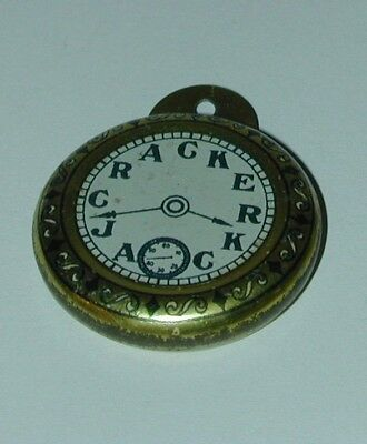 Cracker Jack Prize Lithographed Tin Pocket Watch USA 1930s