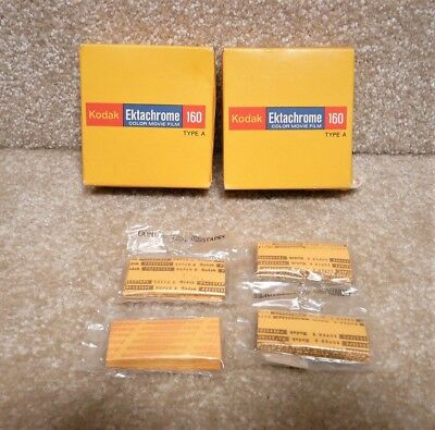 2 Vintage 1979 NOS Super 8 KODAK EKTACHROME 160 Movie Film Cartridges + Splices