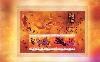 2006 Christmas Island Year of the Dog Minisheet Post office Pack