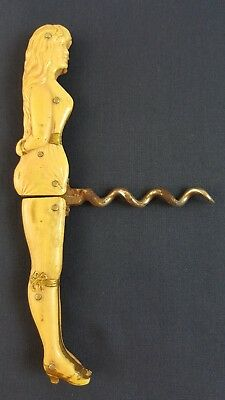 Antique Folding LADY Corkscrew, Celluloid GERMANY, Very Nice Vintage GES. GESCH.