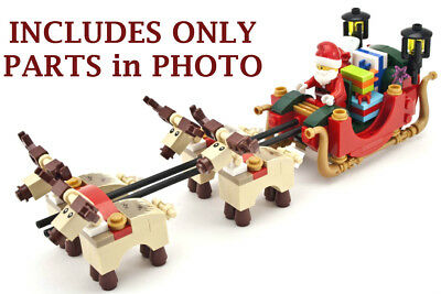 NEW LEGO SANTA, REINDEER, and SLEIGH from SANTA'S WORKSHOP 10245 christmas