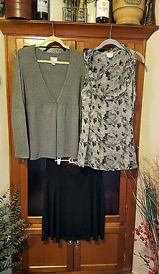 Lot of 3 - Career Maternity Lot - Sz Large - MOTHERHOOD