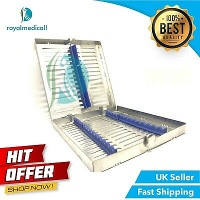 Quality Sterilization Cassette Rack Tray Hold 14 Dental Instruments Autoclave Ce