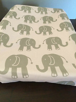 SALE ENDS FEB 22 Nappy Change Mat Cover for babies & toddlers- Elephants on Pink