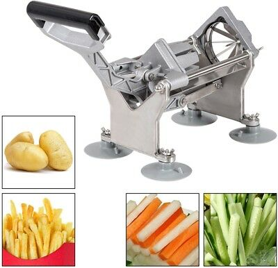 Potato French Fry Fruit Vegetable Cutter Slicer Commercial Quality 4 Blade Sharp