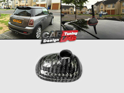 Carbon Roof Antenna Cover Overlay For 07-13 Mini Cooper R55 R56 R57 R58 R59 R60