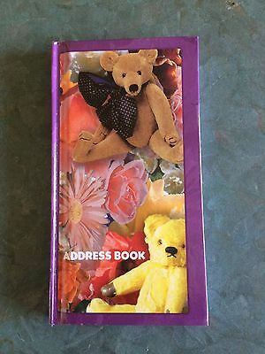 Small Purple Teddy Address Book