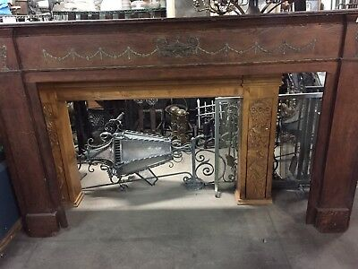 "Colonial Style Fireplace Mantel 85"" X 54"