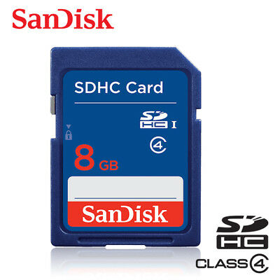 SANDISK Class 4  8GB SDHC UHS-I Flash Memory SD Card For Cameras