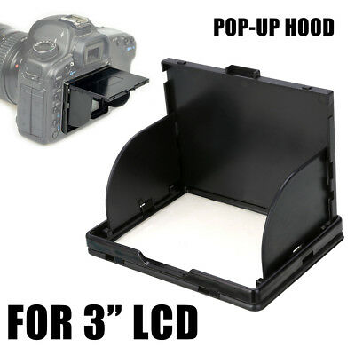 "Detachable 3"" Camera Sun Shade LCD Pop-Up Screen Hood Cover Protector Viewfinder"