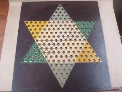 Chinese Checkers, board, hand-painted, 1960s, vintage