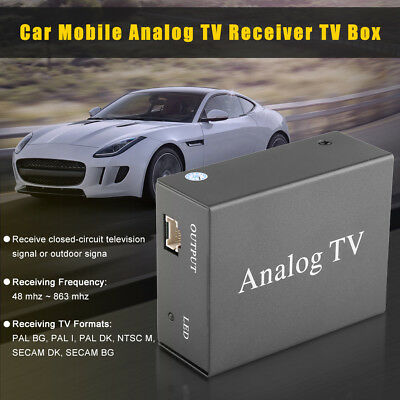12V Auto Car DVD TV Receiver Analog Tuner Strong Signal Box w/Antenna Remote Kit