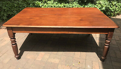 Antique Cedar Dining Table 8 Seater Two Piece Top Free Melb Delivery W Bin!