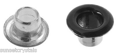 Metal Complex Eyelets - Gunmetal Mini x 2.5mm - 50 Piece Pack