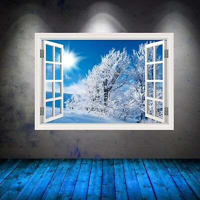 Full Colour Sunny Frosted Tree Window Wall Art Sticker Graphic Decal WSDW47