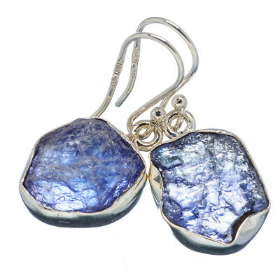 "Tanzanite 925 Sterling Silver Earrings 1 1/4"" Ana Co Jewelry E347355F"