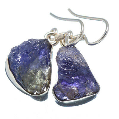 "Tanzanite 925 Sterling Silver Earrings 1 1/4"" Ana Co Jewelry E347430F"