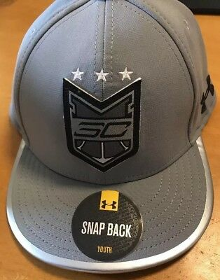 Youth Under Armour Stephen Steph Curry Snap Back Hat Boys SC30 1273726 035 Grey