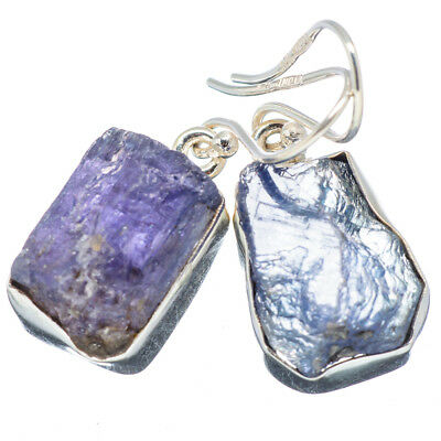 "Tanzanite 925 Sterling Silver Earrings 1 1/4"" Ana Co Jewelry E347699F"