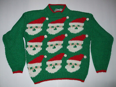 Genuine Vintage Womens Ugly Christmas Santa Sweater SIZE SMALL, by Far & Near