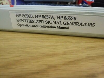 HP/Agilent 8656B/8657A/B Synthesized Signal Generator Op & Cal Manual Loc:412