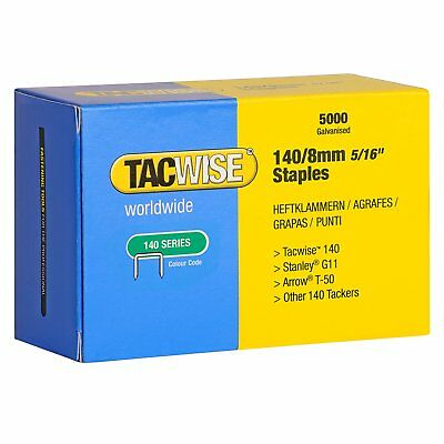 Tacwise 140 Series 8mm Staples for Staple Gun Pack of 5000