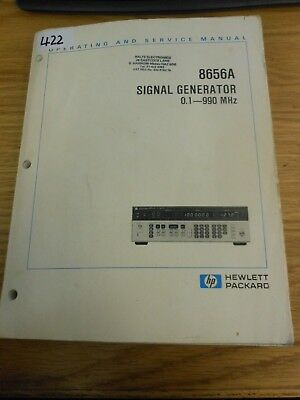 HP/Agilent 8656A Signal Generator Operating and Service Manual Loc: 422