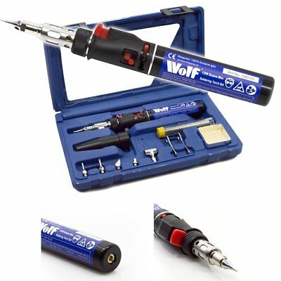 Wolf Cordless 6 in 1 Butane Gas Powered Soldering Iron Variable Temperature Kit