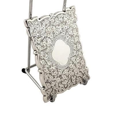 Antique Victorian Sterling Silver Card Case - 1895